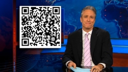 Jon Stewart says this code will bring you to a 'very informative website.'