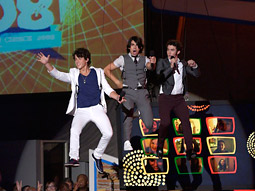 The Jonas Brothers take the stage at the 'Teen Choice Awards.'