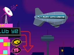 Links from kanyeuniversecity.com direct users to Mr. West's new travel site, KanyeTravel.com.