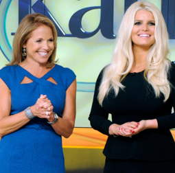 Katie Couric and Jessica Simpson on the first 'Katie'