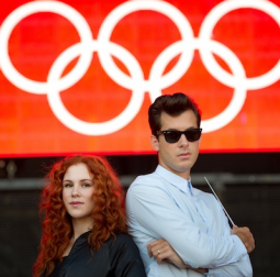 Katy B and Mark Ronson recorded Coca-Cola's song for the 2012 Olympics.