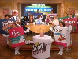 This year 'The View's' Sherri Shepherd rounded up giant walkabout packages of Kimberly-Clark brands off the streets of Manhattan and brought them to the studio.