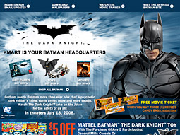 For the first time, Kmart is crafting deals that make it an official promotional partner, as opposed to just a licensed merchandise partner, with blockbusters like 'The Dark Knight.'