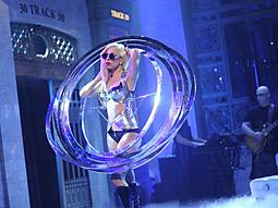 Lady GaGa performs on 'Saturday Night Live.'