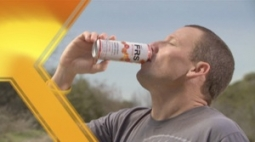 Lance Armstrong in a commercial for FRS Energy Drink