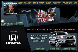 'Last Comic Driving' had comedians, who were not appearing on 'Last Comic Standing,' ride in a car doing bits of their routines in ads for the Honda Pilot.
