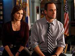 Mariska Hargitay and the departing Christopher Meloni on 'Law & Order: SVU'
