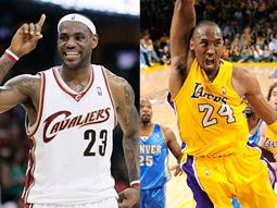 NBA stars LeBron James and Kobe Bryant.