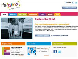 Graduate LifeBlinx is an app that organizes Facebook status updates and photos into actual scrapbooks.