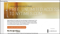The ad that some lucky readers will see.