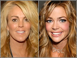 Dina Lohan (left) and Denise Richards have new reality shows on E!: Come for the train wreck, stay for the rescue.
