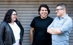 L-R: Leviathan Executive Producer Luvy Delgado, Creative Director Pedro Andres Sanchez and Senior Motion Designer Krzysztof Pianko.