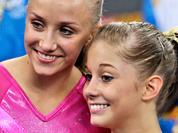 Thursday night's golden and silver girls, Nastia Liukin (left) and Shawn Johnson: Stars in their own right.