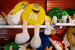M&M dolls for sale at the M&M's World store in New York.