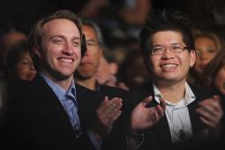 Chad Hurley and Steve Chen in 2007.