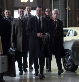 The 'Mad Men' crew arrive to make a pitch for Jaguar.