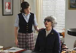 Peggy Olson and Miss Blankenship on last night's episode of 'Mad Men.'