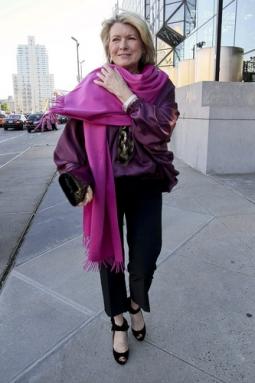 Martha Stewart arrives at the Robin Hood Foundation fundraising gala in New York