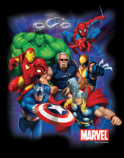 A Marvel poster featuring Paul Teutul of Orange County Choppers