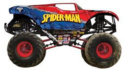 Spider-Man will be featured on one of two new touring monster trucks set to debut on the Monster Jam tour in January 2010.