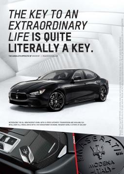 Maserati print ad