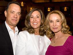 (l-r) Tom Hanks, Leslee Dart and Jessica Lange