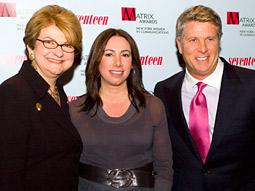 (l-r) Nancy Nichols, Linda Sawyer, and Donny Deutsch