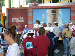 Free samples were given away at the Susan G. Komen Race for the Cure in Dallas.