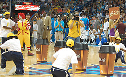 Moroch partnered with the New Orleans Saints to create halftime activities, with the goal of giving free McCafe coupons to everyone in attendance.