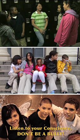 McCann New York helped students create three spots (from top): 'Locker Slam,' 'Karma' and 'Angel and Devil.'