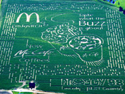 McDonald's created a giant maze in a cornfield in Denton, Neb., to advertise its McCafes.