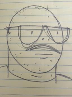 Drawing of Michael Illick, by Michael Illick