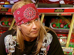 Bret Michaels hangs out at a Dave and Buster's in VH1's 'Rock of Love.'