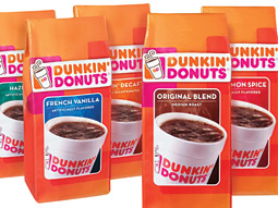 Dunkin' Donuts coffee is sold in more than 40,000 retail outlets throughout the country.
