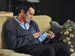 Phil Dunphy has a moment with his iPad.