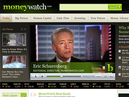 CBS Interactive's new personal-finance site, Moneywatch.com.