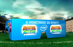 The 'Monstrous Super Bowl Event,' a collaboration between DreamWorks Animation, PepsiCo and Intel, will plug DreamWorks' March 27 release of 'Monsters vs. Aliens' and Pepsi's SoBe Lifewater.