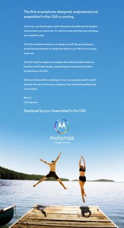 Motorola ad from July 2013