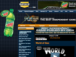In addition to a new 30-minute TV special, 'The Next Great Game Gods,' Mountain Dew is sponsoring the Best Independent Game Award category for Spike's Video Game Awards.