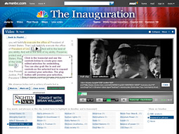 MSNBC's Inauguration Explorer