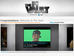 Content in the MTV Music Vault is unlocked by providing the correct answers to AT&T's music-trivia game, which is targeted to whatever music video the user is watching.