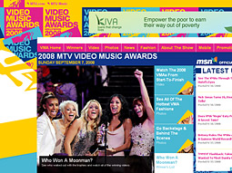 MTV.com accounts for more than 600,000 of Flux's 7 million user base, with more than 250,000 of those users signing up in the past month alone in order to nominate artists for this year's Video Music Awards.