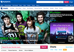 Most of MySpace's 2009 media spending was geared toward the launch of MySpace Music.