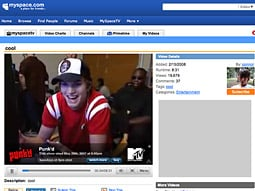 MTV's deal with MySpace employs a system that identifies MTV content when it is uploaded and attaches overlay advertising.