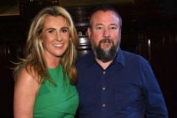 A&E Networks CEO Nancy Dubuc and Vice CEO Shane Smith at A&E Networks's 2015 upfront event.