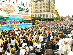 The crowd of 35,000 awaits the start of the contest.