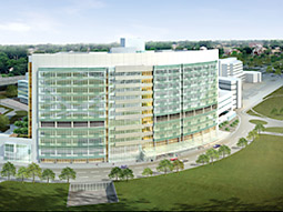 An artist's rendering of the Nationwide Children's Hospital campus.