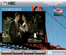 Using Mixercast, consumers can create their own Dockers commercials that will be distributed on the web with a Mixercast widget, with the winning entry to air on 'The Tonight Show' this summer.