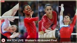NBC streamed women's gymnastics live Thursday afternoon.