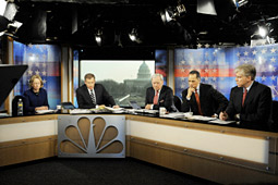 NBC coverage led broadcast networks, averaging 8.7 million total viewers from 10 a.m. to 5 p.m. and a 2.3 rating among adults 18 to 49.